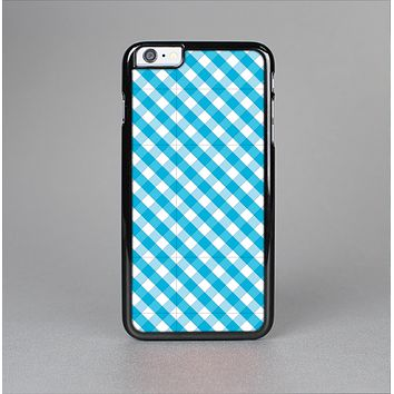 The Subtle Blue & White Plaid Skin-Sert Case for the Apple iPhone 6 Plus