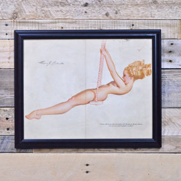 Petty Pinup Girl Art, Original Petty For Esquire, Vintage Petty Girl