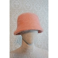 Dusty Rose  Angora Bucket Hat