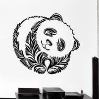 Wall Decal Panda Beer Animal Ornament Tribal Mural Vinyl Decal Unique Gift (z3195)