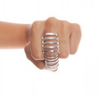 Caged In Knuckle Ring - NASTY GAL