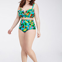 Tropical Print Bandeau