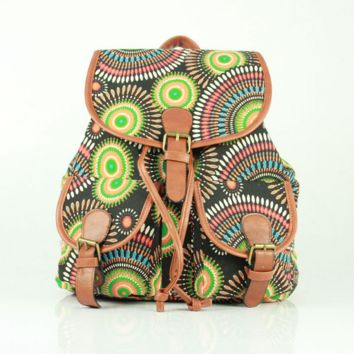 Cute Ethnic Totem Large College Backpacks for School Bag Canvas Daypack Travel Bag