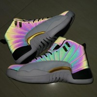 Jordan 12 Retro Black White Multi - Best Deal Online