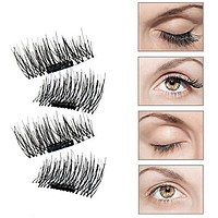2 Pair of 3D Reusable False Magnet Eyelashes
