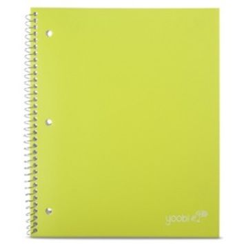 Yoobi Poly Cover College Rule 1 Subject Notebook - Green