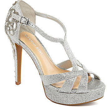 Gianni Bini Geneva Glitter Jeweled Dress Sandals | Dillards.com