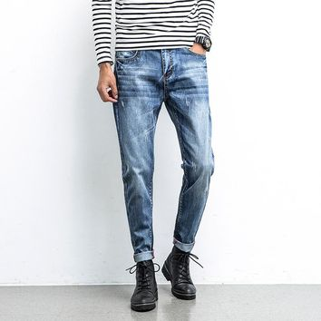 Slim Rinsed Denim Denim Pants Jeans [10869557571]