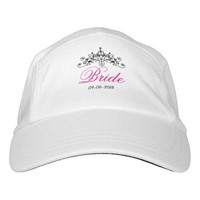 Hot pink, bride with a crown, headsweats hat