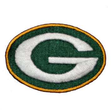 "Green Bay Packers iron on patch NFL team logo (size: 2 5/8"" X 1 3/4"") Made in the USA"