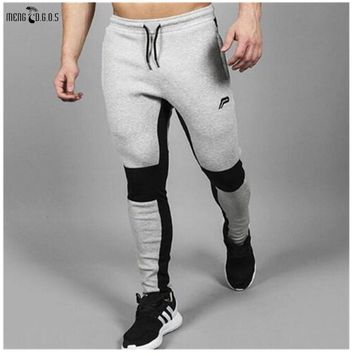 2018 Men's Jogger Brand Casual Pants Fitness Men's Trousers Muscle Brothers Exercise Men's Pants Men's  Pants Fitness trousers