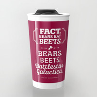 The Office, Jim Halpert, Bears Beets Battlestar Galactica, Dunder Mifflin, Tumbler, Travel Mug