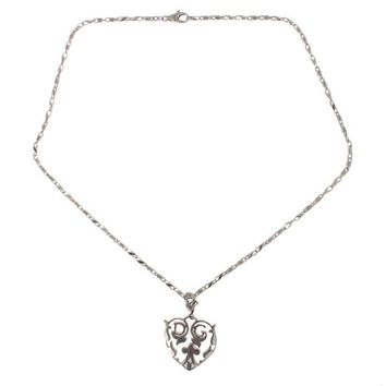Dolce & Gabbana 925 Silver Heart Charm Necklace