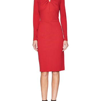 Escada Women's Dorikes Sheath Dress with Ruched Neckline - Red -