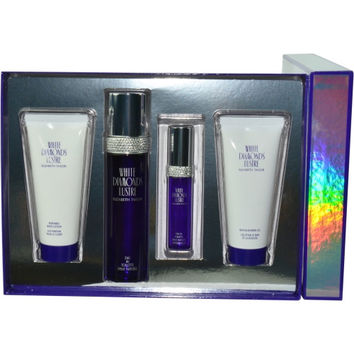 WHITE DIAMONDS LUSTRE by Elizabeth taylor EDT SPRAY 3.3 OZ & EDT SPRAY .5 OZ & BODY LOTION 3.3 OZ & SHOWER GEL 3.3 OZ