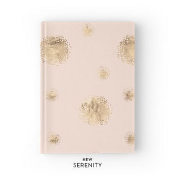 Hardcover Journal / Hardcover Notebook - Dots, Faux Rose Gold, Pink, Gift for Her, NewSerenityStudio