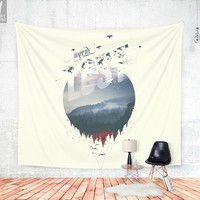 Happily lost Wall tapestry
