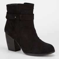 Qupid Maze Womens Booties Black  In Sizes