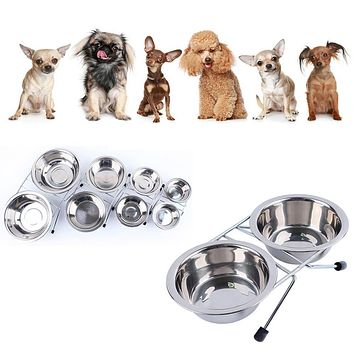 high quality on hot selling stainless steel pet dog cat puppy travel feeding feeder food bowl water dish top selling dog bowl