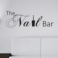 The Nail Bar Nail Tech Store Business Logo Version 102 Decal Sticker Wall