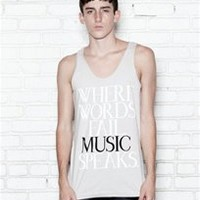 WHERE WORDS FAIL MUSIC SPEAKS Unisex Tank Top