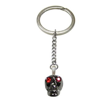 Skull with Red Eyes Pendant Keychain