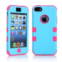 Case Cover for iPhone Nice Colorful 3 in 1 Hard 5C
