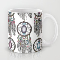 gemstone dreamcatcher Mug by Sharon Turner