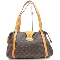 Authentic Louis Vuitton Tote Bag Stresa PM M51186 Browns Monogram 170868