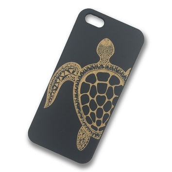 iPhone SE - Turtle Wooden Phone Case