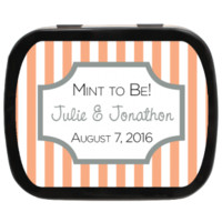 Striped Box Personalized Wedding Mint Tins for Candy Favors, Party Favors