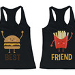Burger and Fries BFF Tanktops Best Friend Matching Tank Sleeveless Tee
