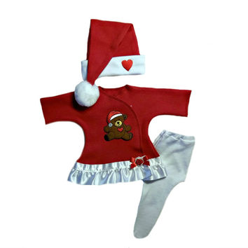 Baby Girls' Teddy Bear Christmas Dress