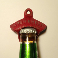 Cast iron bottle opener pick your color, rustic bottle opener