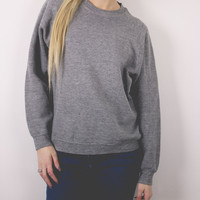 Vintage Solid Gray Sweatshirt