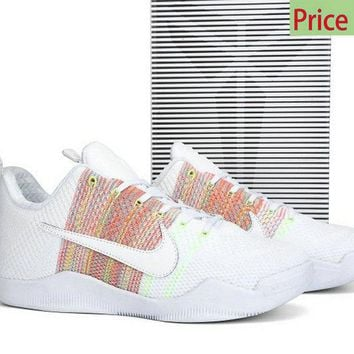 Spring Summer 2018 Legit Cheap Kobe 4KB 11 Elite Low 4KB White Multicolor 824463 199 sneaker