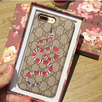 GUCCI Snake Leather Case for iPhone