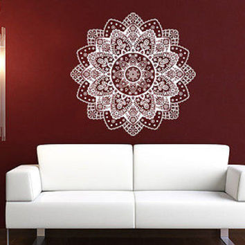 Mandala Wall Decal Yoga Namaste Indian Ornament Moroccan Patern Om Bedroom C558