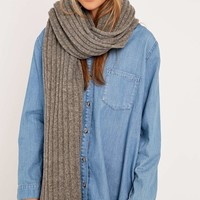 Lambswool Ribbed Scarf - Urban Outfitters