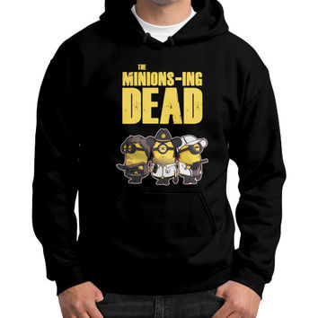 THE MINIONS ING DEAD Gildan Hoodie (on man)