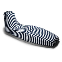 Prado Outdoor Chaise Lounge Navy Striped on Bezar