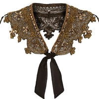 River Island Womens Gold beaded bolero collar