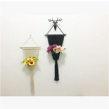 HANDMADE KNITTED  MACRAME WALL HANGINGS