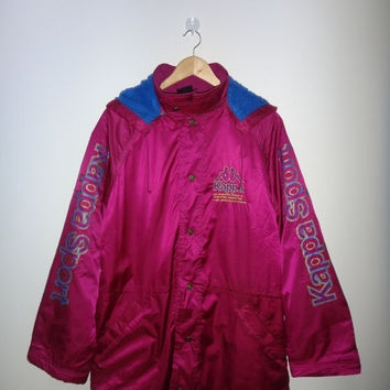 New Year Sale Vintage KAPPA Jacket Snow Beach Big Logo Windbreaker Rain Coat 1990s Vtg