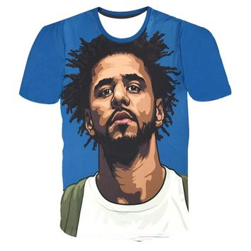 Hot Hip Hop Star J Cole - FOR YOUR EYES ONLY 3D Print T-shirt Popular Man Tops Short Sleeve Kids High Quality Fans Cloth