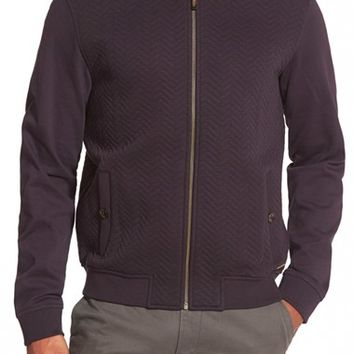 Men's Ted Baker London 'Deeaz' Quilted Herringbone Knit Baseball Jacket,