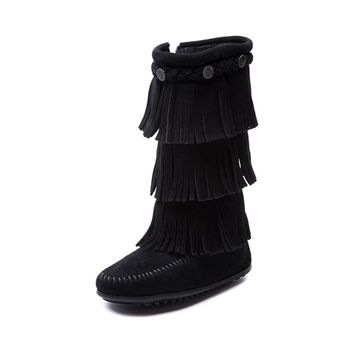 Youth/Tween Minnetonka Three Layer Fringe Boot