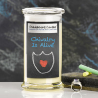 Chivalry Is Alive Chalkboard Jewelry Candle