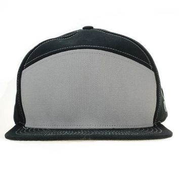 Touch of Class Black Gray 6 Panel Snapback