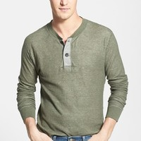 Men's Grayers 'Double Cloth' Modern Fit Henley,